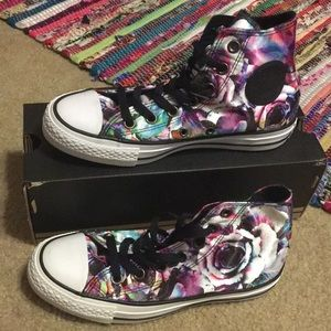 Converse High Top Floral Sneakers